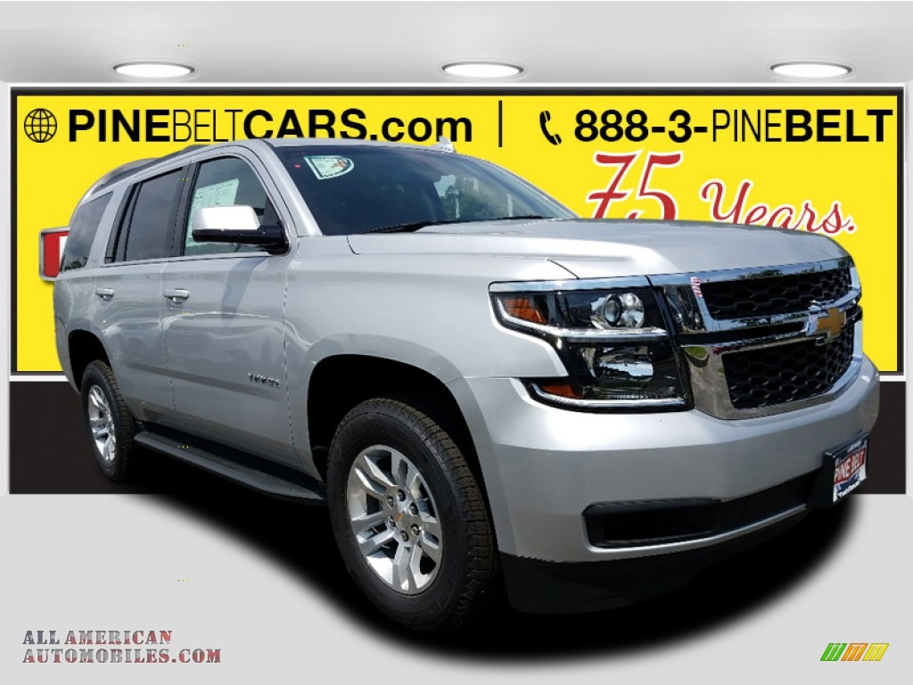 2017 Tahoe LS 4WD - Silver Ice Metallic / Jet Black photo #1