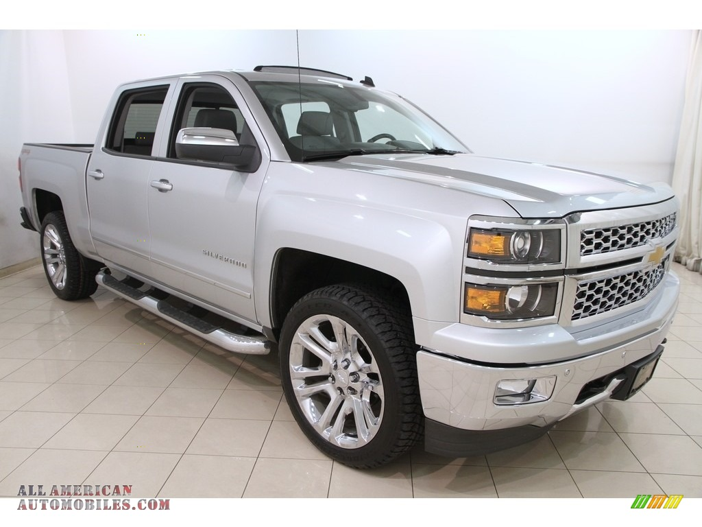 2014 Silverado 1500 LTZ Z71 Crew Cab 4x4 - Silver Ice Metallic / Jet Black/Dark Ash photo #1