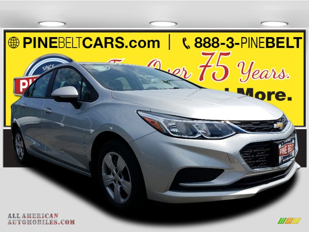 Silver Ice Metallic / Jet Black Chevrolet Cruze LS