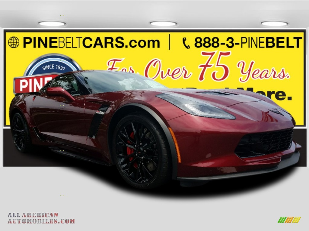 2018 Corvette Z06 Coupe - Long Beach Red Metallic Tintcoat / Jet Black photo #1