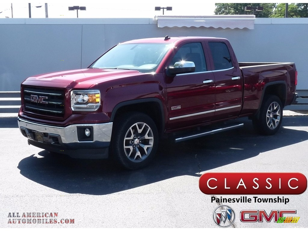 2014 Sierra 1500 SLT Double Cab 4x4 - Sonoma Red Metallic / Jet Black photo #1