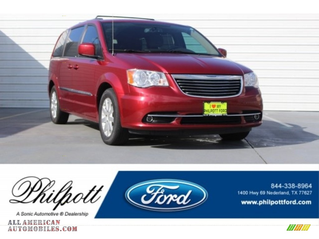 2014 Town & Country Touring - Deep Cherry Red Crystal Pearl / Dark Frost Beige/Medium Frost Beige photo #1