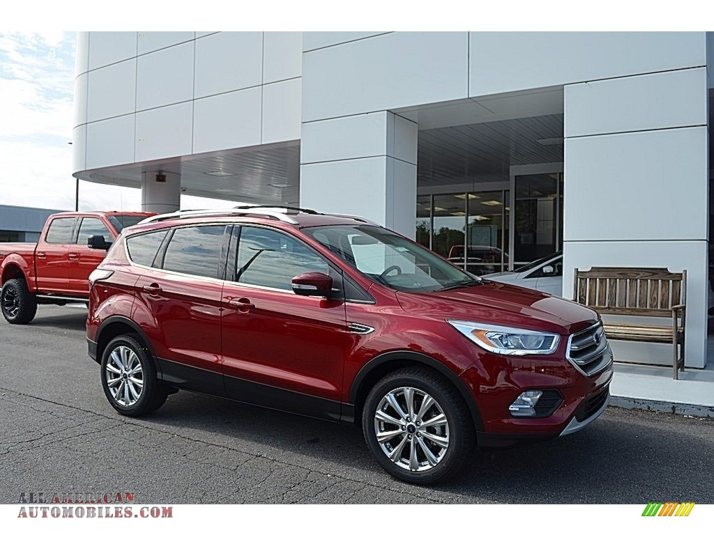 2017 Escape Titanium - Ruby Red / Medium Light Stone photo #1