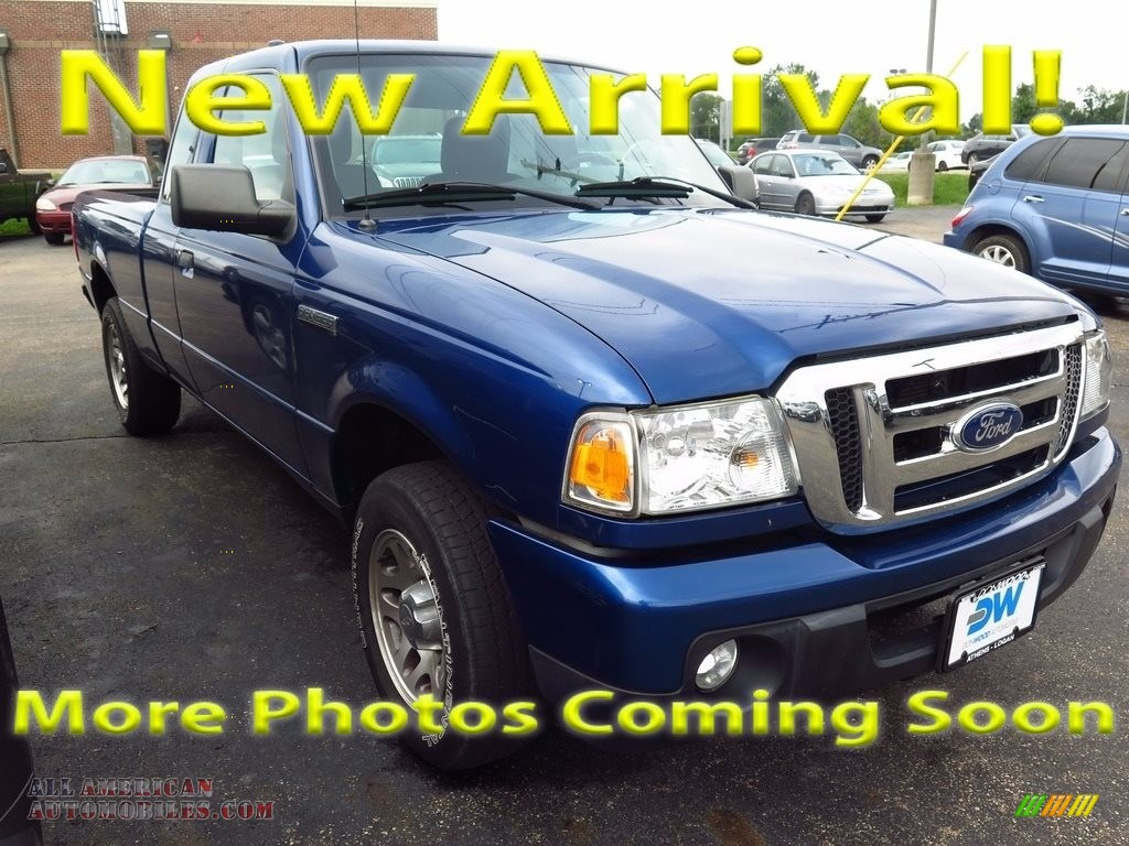 Vista Blue Metallic / Medium Dark Flint Ford Ranger XLT SuperCab