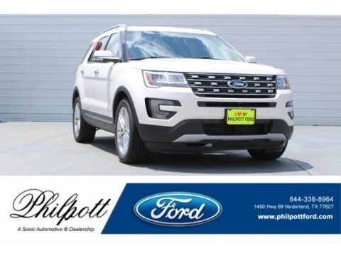 White Platinum 2017 Ford Explorer Limited