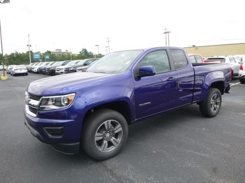 Laser Blue Metallic 2017 Chevrolet Colorado WT Extended Cab 4x4