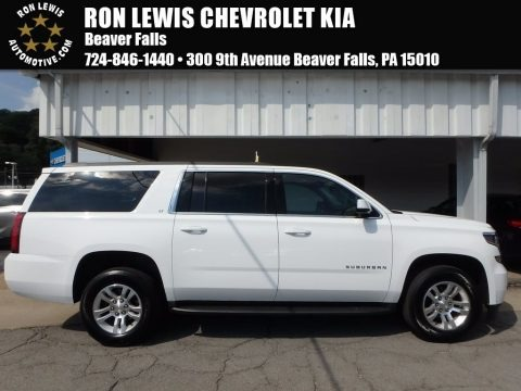 Summit White 2015 Chevrolet Suburban LT 4WD
