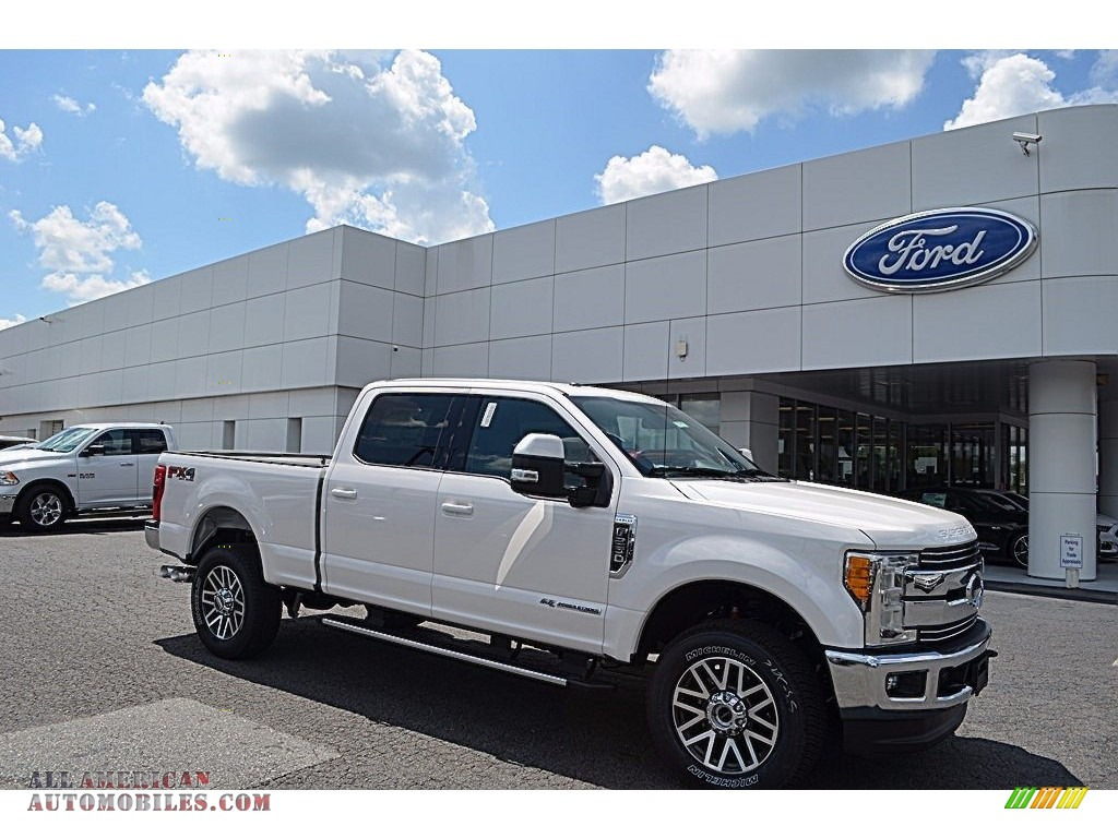 2017 ford f250 super duty xlt crew cab 4x4 in white platinum e41259 all american automobiles. Black Bedroom Furniture Sets. Home Design Ideas