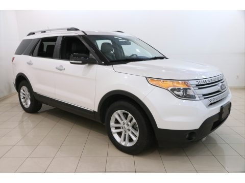 White Platinum 2015 Ford Explorer XLT 4WD