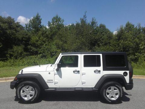 Bright White 2017 Jeep Wrangler Unlimited Sport 4x4