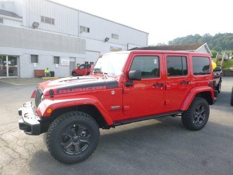 Firecracker Red 2017 Jeep Wrangler Unlimited Rubicon 4x4