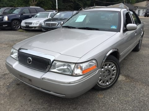 Silver Frost Metallic 2003 Mercury Grand Marquis GS