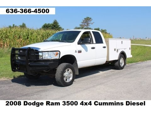 Bright White 2008 Dodge Ram 3500 SLT Quad Cab 4x4