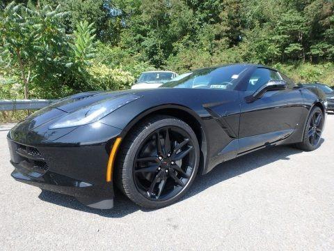 Black 2018 Chevrolet Corvette Stingray Coupe