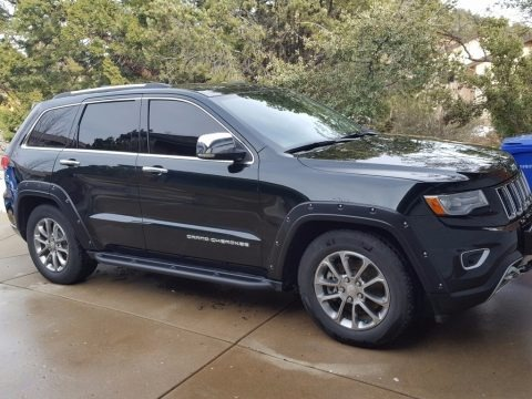 Black Forest Green Pearl 2014 Jeep Grand Cherokee Overland 4x4