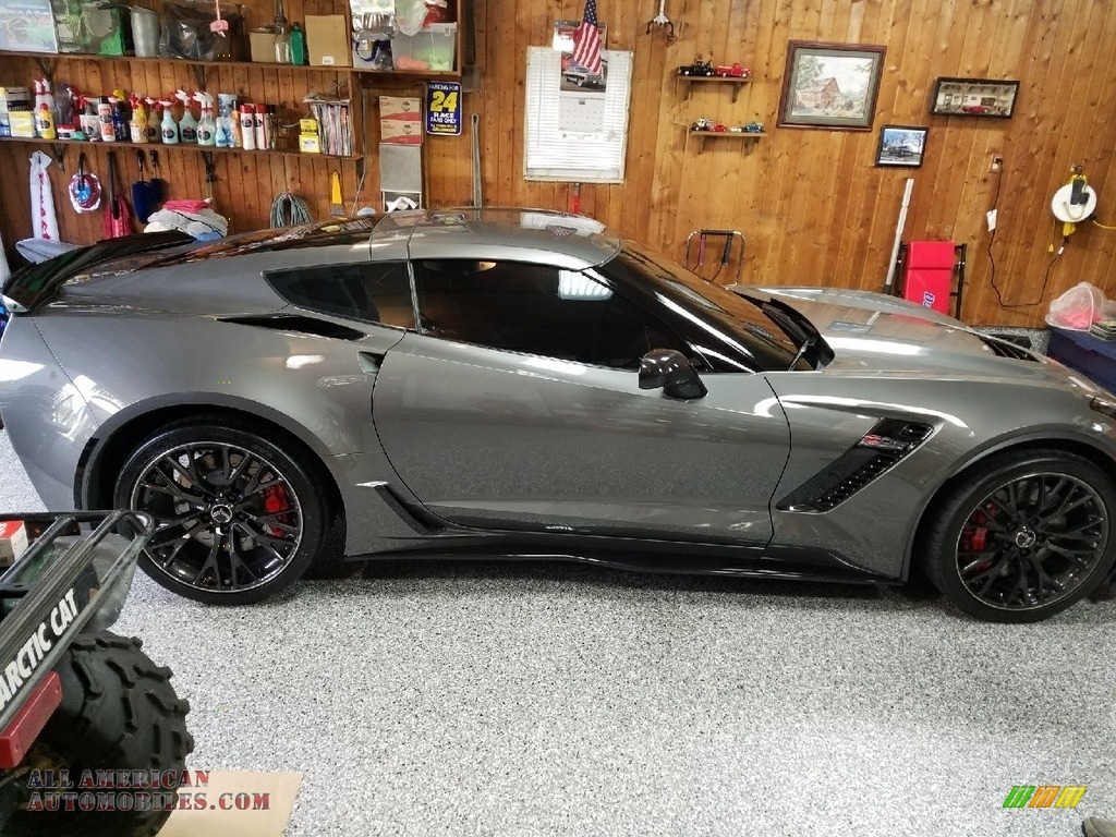 2016 Corvette Z06 Coupe - Blade Silver Metallic / Jet Black photo #1