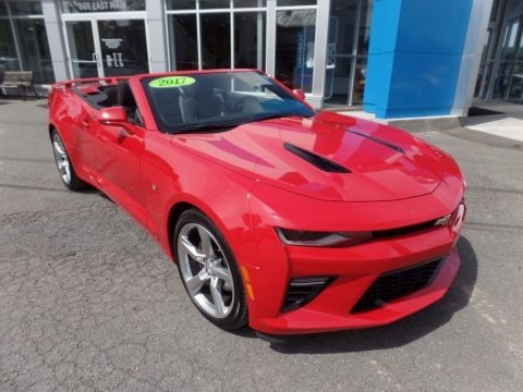 Red Hot 2017 Chevrolet Camaro SS Convertible