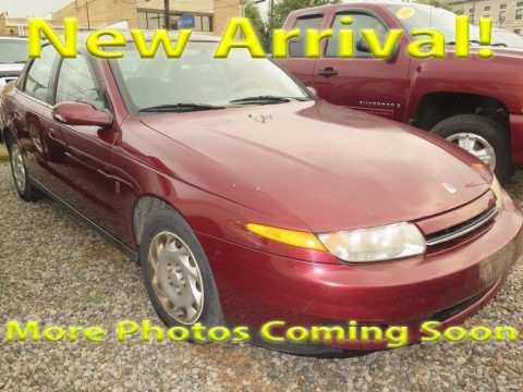 Dark Red 2001 Saturn L Series L200 Sedan