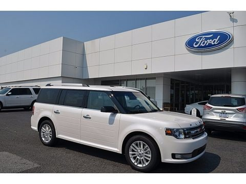 White Platinum 2018 Ford Flex SEL