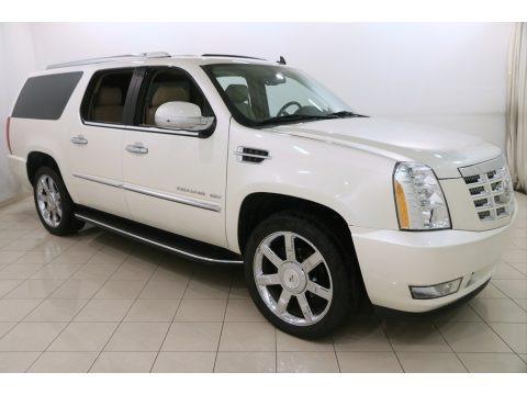 White Diamond Tricoat 2012 Cadillac Escalade ESV Luxury AWD
