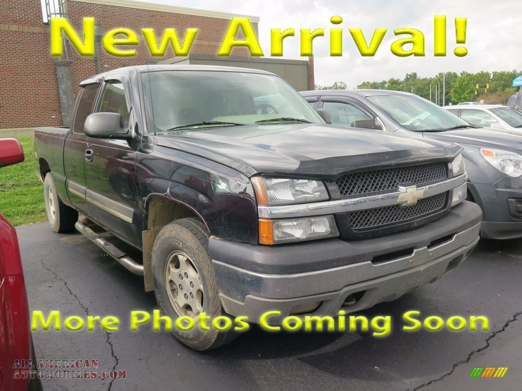 2003 Silverado 1500 LT Extended Cab 4x4 - Black / Dark Charcoal photo #1