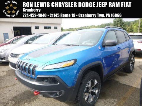 Hydro Blue Pearl 2018 Jeep Cherokee Trailhawk 4x4