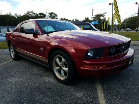 Dark Candy Apple Red 2009 Ford Mustang V6 Coupe