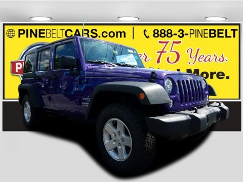 Extreme Purple 2017 Jeep Wrangler Unlimited Sport 4x4