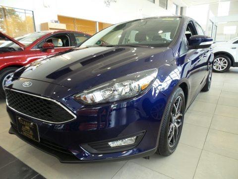 Kona Blue 2017 Ford Focus SEL Hatch
