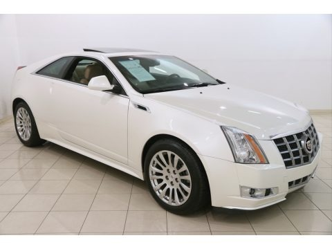 White Diamond Tricoat 2012 Cadillac CTS 4 AWD Coupe