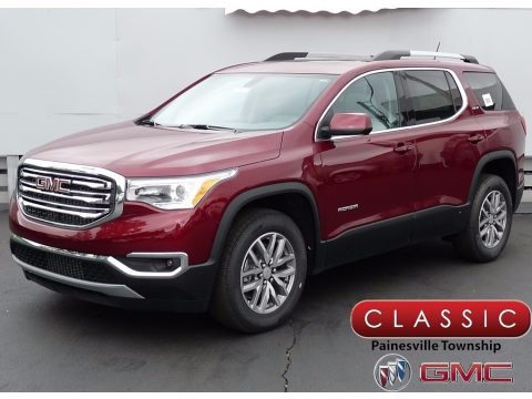 Crimson Red Tintcoat 2017 GMC Acadia SLE AWD