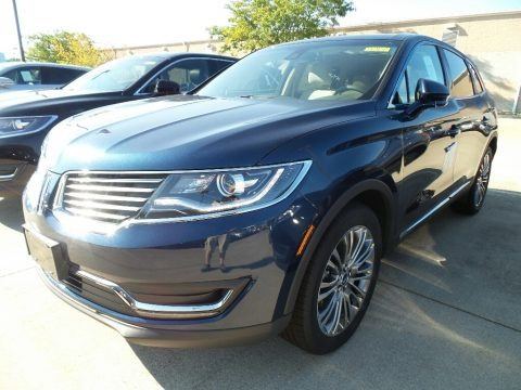 Midnight Sapphire Blue 2017 Lincoln MKX Reserve AWD