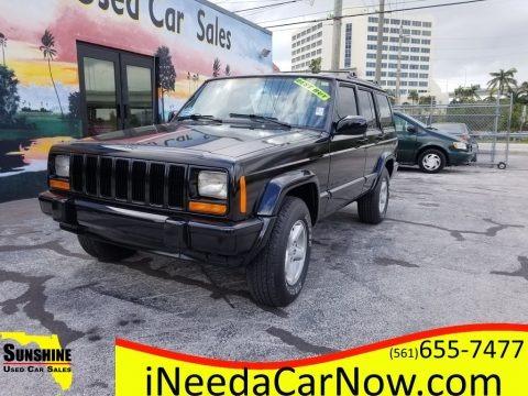 Black 2001 Jeep Cherokee Sport