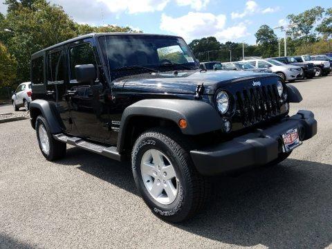 Black 2017 Jeep Wrangler Unlimited Sport 4x4