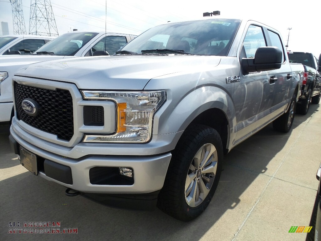 2018 Ford F150 Stx Supercrew 4x4 In Ingot Silver A42879