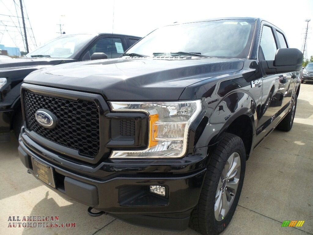 2018 ford f150 stx supercrew 4x4 in shadow black a42880 all american automobiles buy. Black Bedroom Furniture Sets. Home Design Ideas