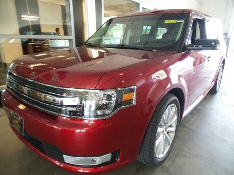 Ruby Red 2018 Ford Flex SEL AWD