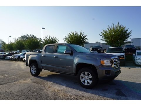 Satin Steel Metallic 2018 GMC Canyon SLE Crew Cab