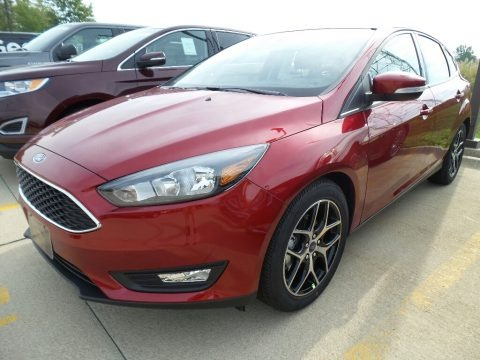 Ruby Red 2017 Ford Focus SEL Hatch