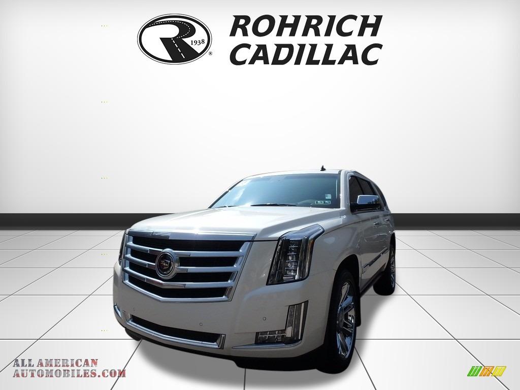 White Diamond Tricoat / Shale/Cocoa Cadillac Escalade Premium 4WD