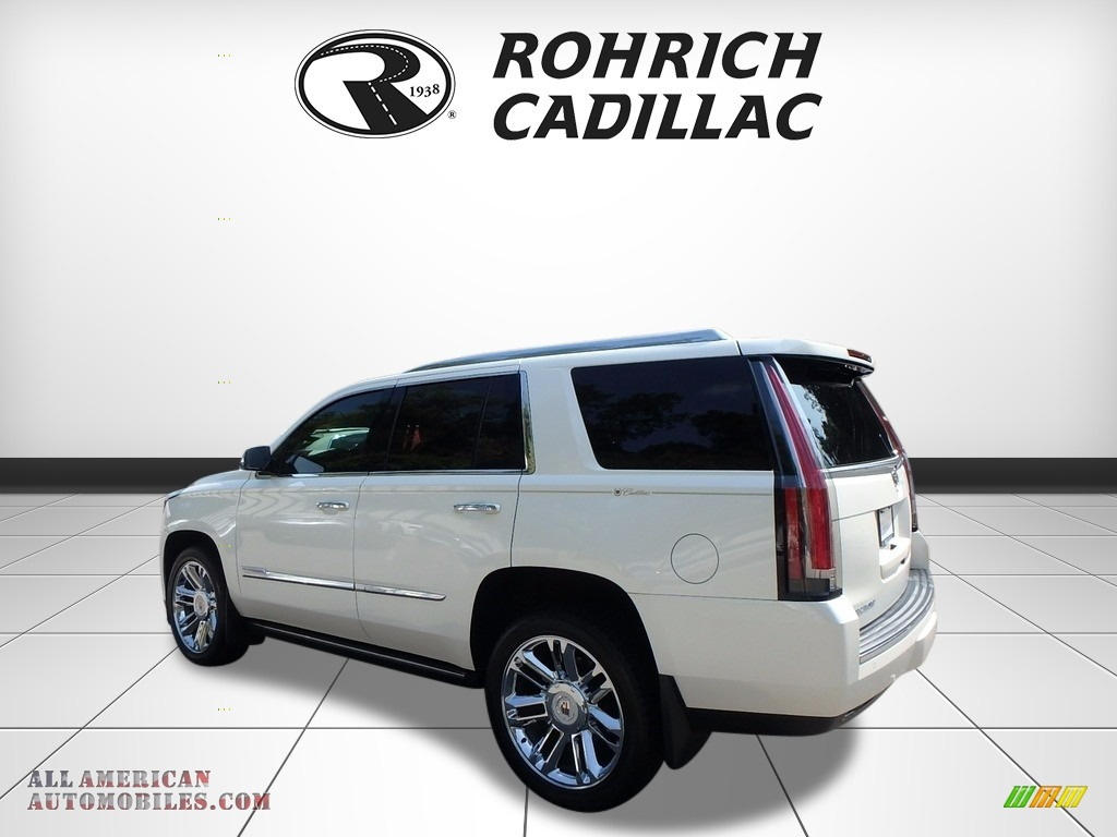 2015 Escalade Premium 4WD - White Diamond Tricoat / Shale/Cocoa photo #3