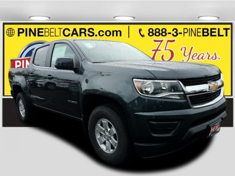 Graphite Metallic 2018 Chevrolet Colorado WT Crew Cab 4x4