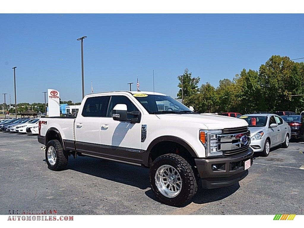 2017 ford f250 super duty king ranch crew cab 4x4 in white platinum c59898 all american. Black Bedroom Furniture Sets. Home Design Ideas