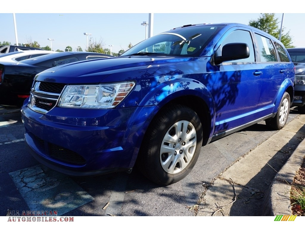 2015 dodge journey se in blue streak pearl 723682 all american automobiles buy american. Black Bedroom Furniture Sets. Home Design Ideas