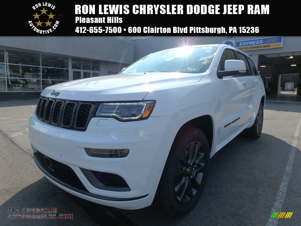 2018 jeep grand cherokee overland 4x4 in bright white 177485 all american automobiles buy. Black Bedroom Furniture Sets. Home Design Ideas