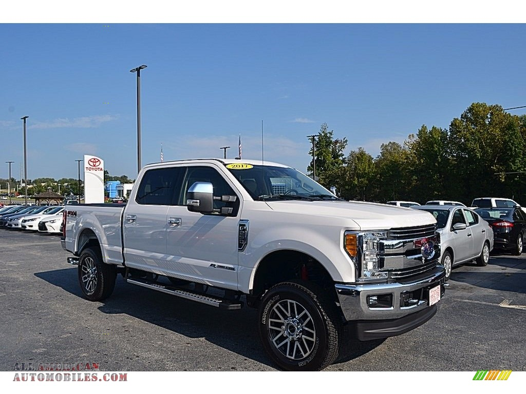 2017 ford f250 super duty lariat crew cab 4x4 in white platinum c05920 all american. Black Bedroom Furniture Sets. Home Design Ideas