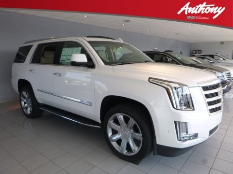Crystal White Tricoat 2018 Cadillac Escalade Luxury 4WD