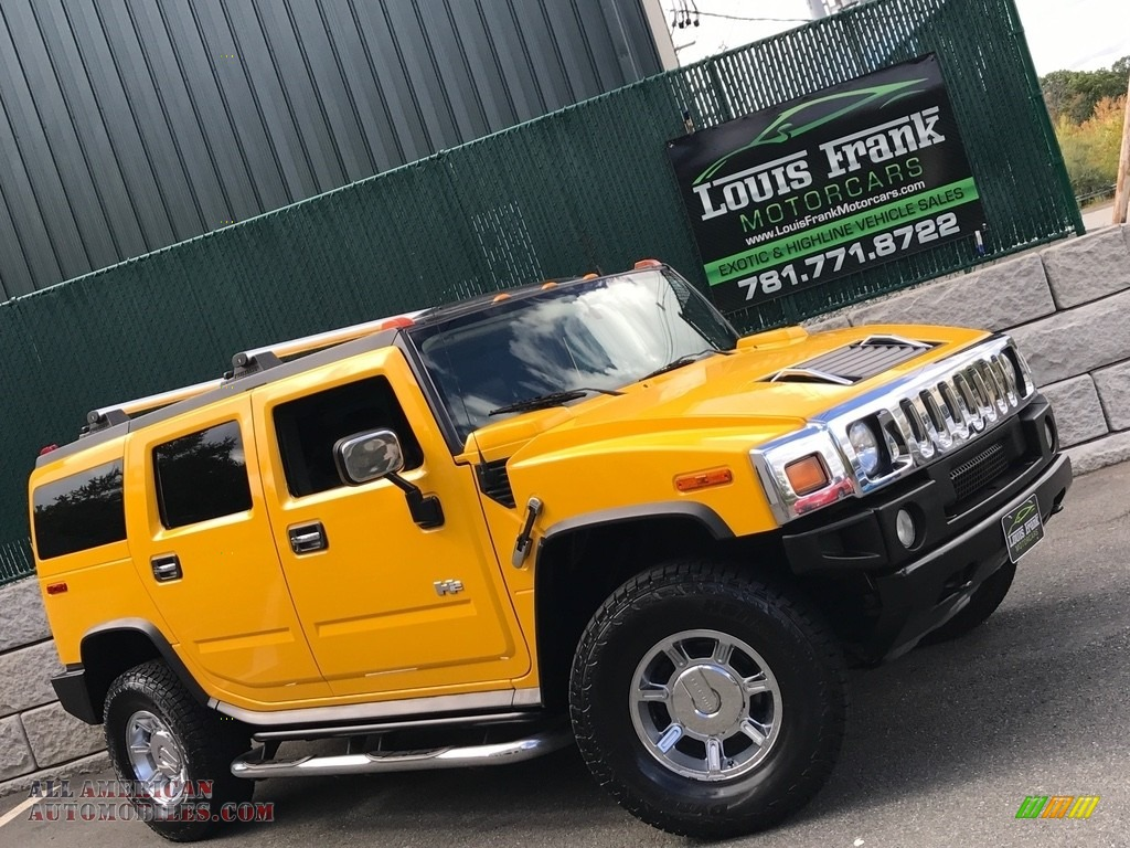 2005 H2 SUV - Yellow / Ebony Black photo #1