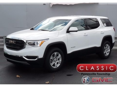 Summit White 2018 GMC Acadia SLE