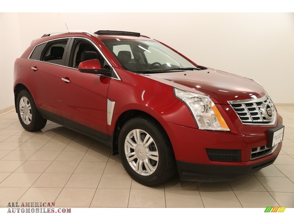 2014 SRX Luxury AWD - Crystal Red Tintcoat / Ebony/Ebony photo #1
